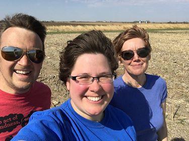 Herr, Stengel, Drijber at USDA CRS field site